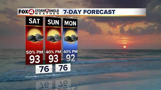 Scattered Afternoon Storms Through the Weekend  7-14 - Video