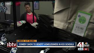 Comedy show helps homeless students in KCK - Video