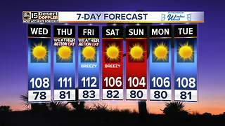 Temperatures to heat up to 111 by Thursday - Video