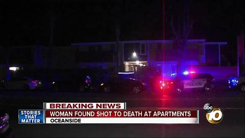 Woman found shot to death in Oceanside