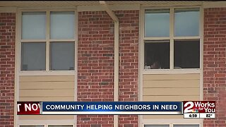 Community helping neighbors in need
