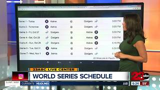 World Series Game Schedule - Video