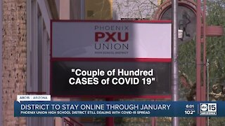 Phoenix school district to stay online through January
