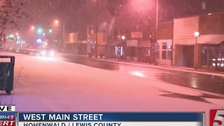 Snow Falling Fast In Lewis County