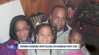 Woman accused of killing ex-husband with car - Video