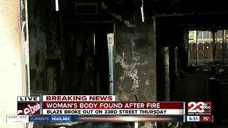 Overnight apartment blaze, authorities find body of a woman. - Video