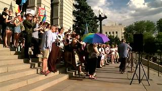 Gay rights activists rally at state Capitol - Video