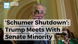 'Schumer Shutdown' Trump Meets With Senate Minority Leader To Stop Government Shutdown - Video