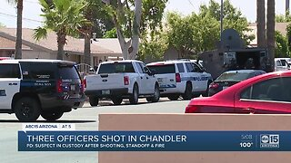 PD: Suspect in custody after shooting 3 Chandler officers, barricading inside home