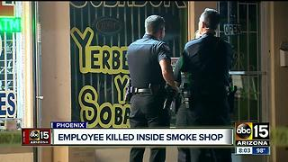 North Phoenix smoke shop employee shot and killed - Video
