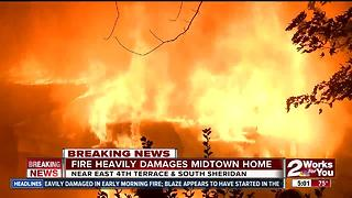 Home heavily damaged by fire near South Sheridan - Video
