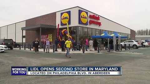 International grocery store Lidl opens its doors in Aberdeen