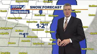 First significant snowfall arrives Friday