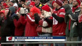Fans pumped after Wisconsin's win against Michigan - Video