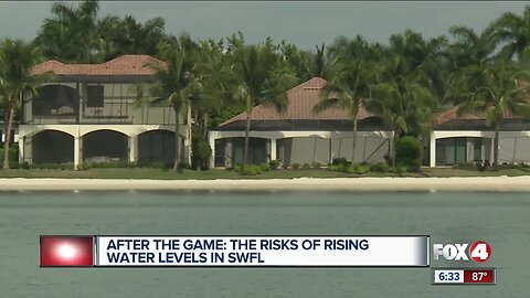 Risk of rising water levels in Southwest Florida