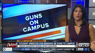 Student arrested for bringing BB guns on campus