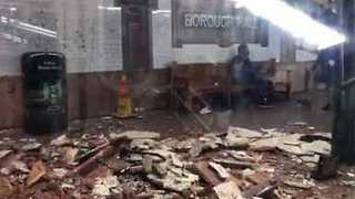 Subway Ceiling Collapses in Brooklyn, Injuring One - Video