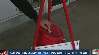Salvation Army donations are low this year - Video