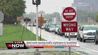 Road work causing traffic nightmare in Southfield - Video