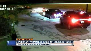 Pregnant woman on drugs caught stealing snow plow from Islamic Center - Video