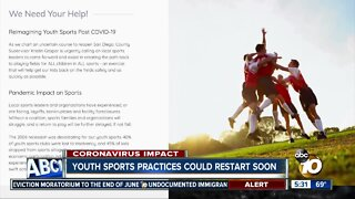plan approved to resume youth sports in SD county