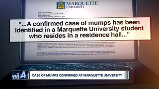 Confirmed case of mumps reported at Marquette University
