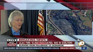 San Diego Supervisor Dianne Jacob scolds SDG&E handling power outages during Lilac Fire - Video