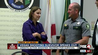 Collier woman who survived Vegas shooting credits CCSO training - Video