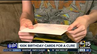 Parents of Arizona teen with rare disease hoping a cure is delivered with birthday cards - Video
