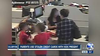 Couple bring kids along as they go on $7K spending spree with stolen credit cards - Video