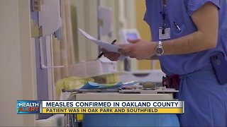Measles confirmed in Oakland County