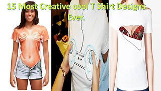 15 Most Creative cool T Shirt Designs Ever. part 1 - Video