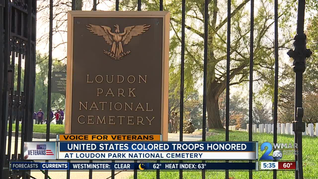 United States Colored Troops honored at Loudon Park National Cemetery