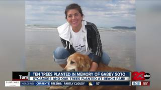 Trees planted in Beach Park in memory of beloved Wasco teacher - Video