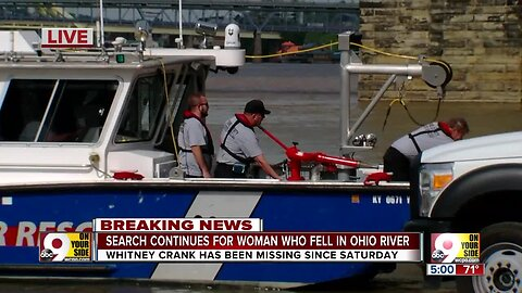 Search continues for woman who fell in Ohio River
