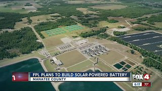 Florida Power & Light builds a solar powered battery in Manatee County