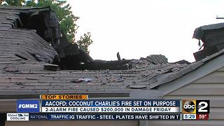 Cause of fire at Coconut Charlie's determined to be arson - Video