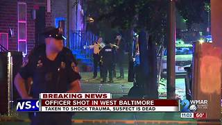 Baltimore Police Officer Shot
