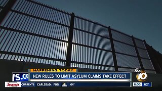 Regulations that limit asylum claims takes effect