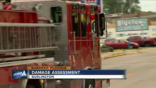 Cleanup efforts continue in Burlington after floods
