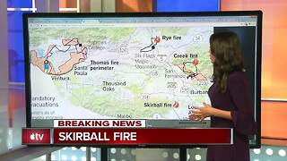 Full breakdown of the four major fires in Southern California - Video