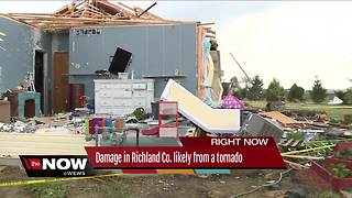National Weather Service says tornado likely touched down in Richland County - Video