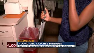 Brave 12-year-old wakes up to find burglar in her room, grabs kitchen knife and scares him off - Video