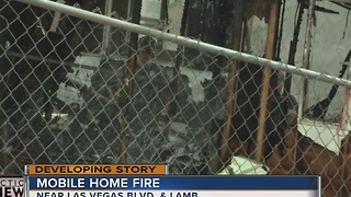 8 without a home after mobile home fire - Video