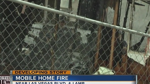 8 without a home after mobile home fire