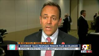 Governor Bevin talks proposed pension plan in Erlanger - Video