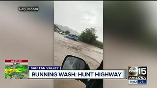 Monday morning storm dumps rain on East Valley - Video