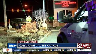 Car crash cause power outage near 101st Memorial - Video