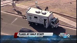 Flags in Arizona lowered to half-staff to honor El Mirage officer
