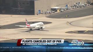 Excessive heat warning in Phoenix affecting flights out of Sky Harbor Airport - Video